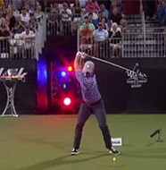 OnlineGolf News: Pro Long Driver swings so hard his golf club snaps and hits fan
