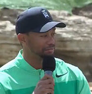 OnlineGolf News: Tiger Woods hits first public golf shots in two months