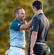 OnlineGolf News: Justin Rose shows his class to Sergio Garcia after Masters heartbreak