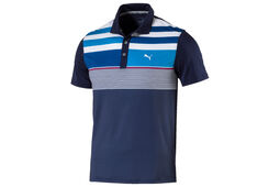 PUMA Golf Junior Road Map Asym Polo Shirt