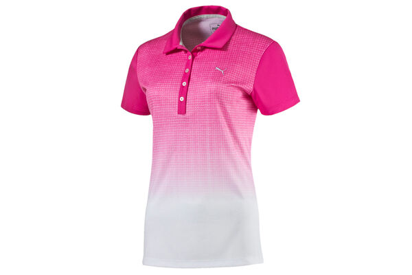 PUMA Golf Ladies Textured Fade Polo Shirt