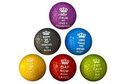 PGA Tour Novelty 6 Golf Balls