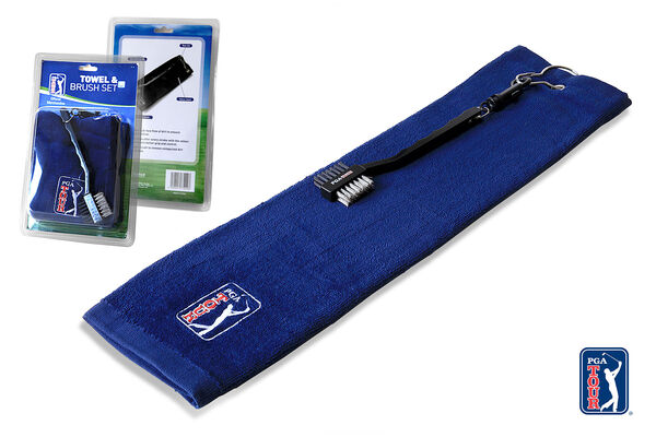 PGA Tour Towel and Brush Set