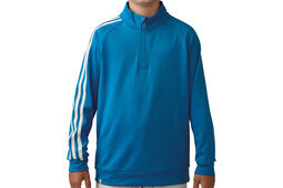 adidas Golf Junior 3 Stripes 1/4 Zip Windtop