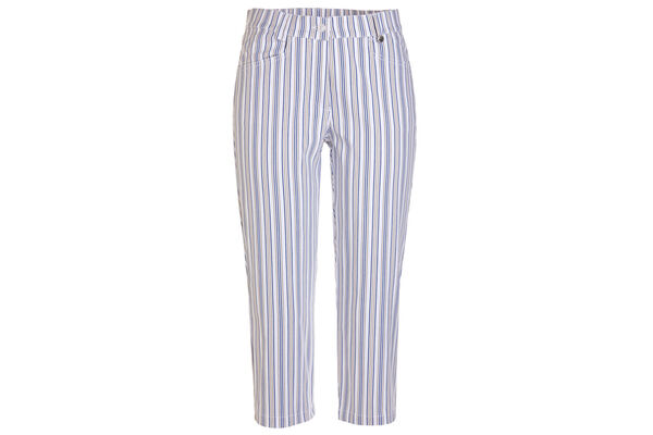 GOLFINO Ladies Stripe Stretch Capri Trousers