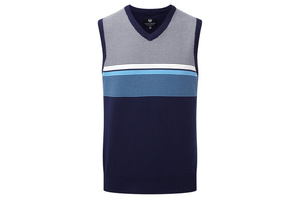 Palm Grove Vest Knit Stripe S7