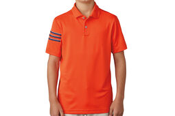 adidas Golf Junior 3 Stripe Polo Shirt