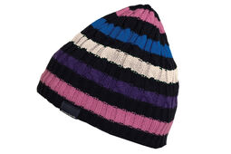 Green Lamb Ladies Doreen Striped Cable Beanie