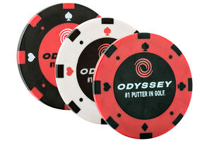Odyssey Poker Chip Ball Markers Pack of 3