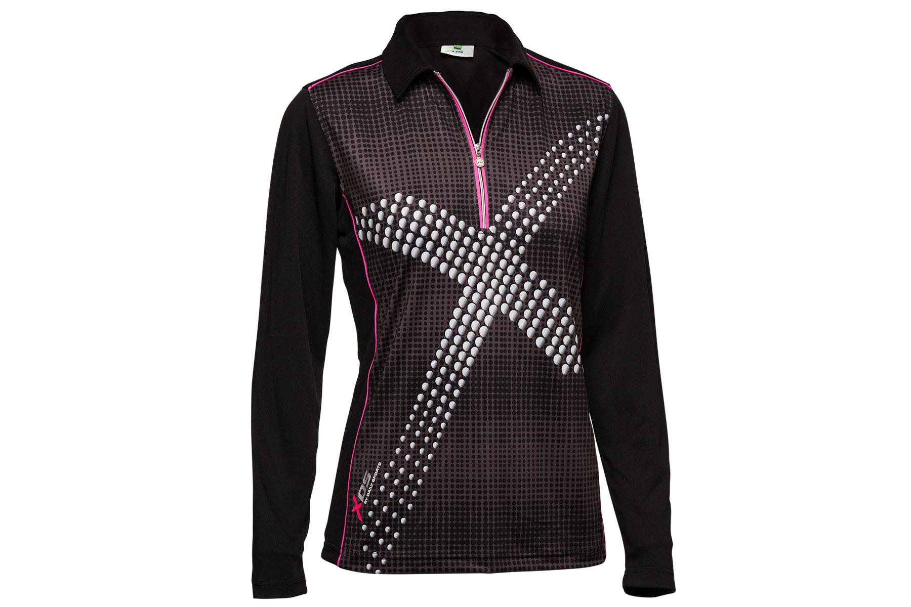 daily sports ladies octavia long sleeved polo shirt