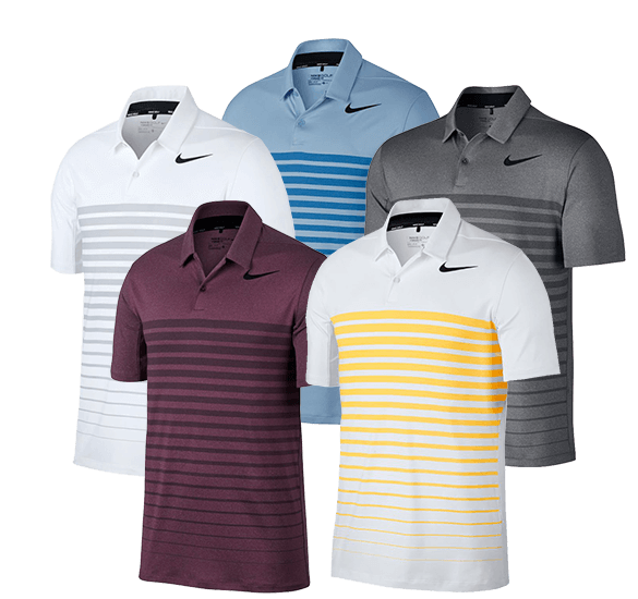 Nike Golf Dry Heather Stripe Polo Shirt