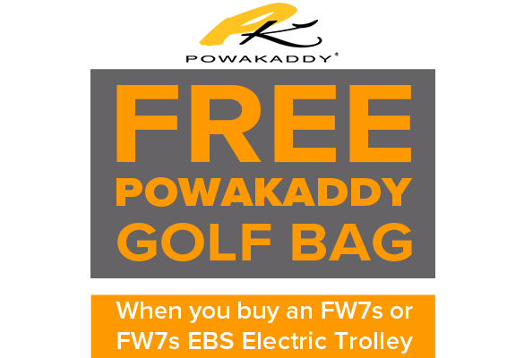 Free bag with Powakaddy Electric Trolleys