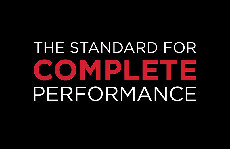 The Standard For Complete Performance