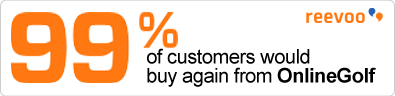 99% of Customers Recommend OnlineGolf to a friend badge