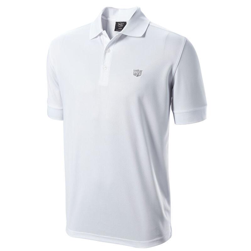 Wilson Staff Authentic Golf Polo Shirt, Male, White, Medium
