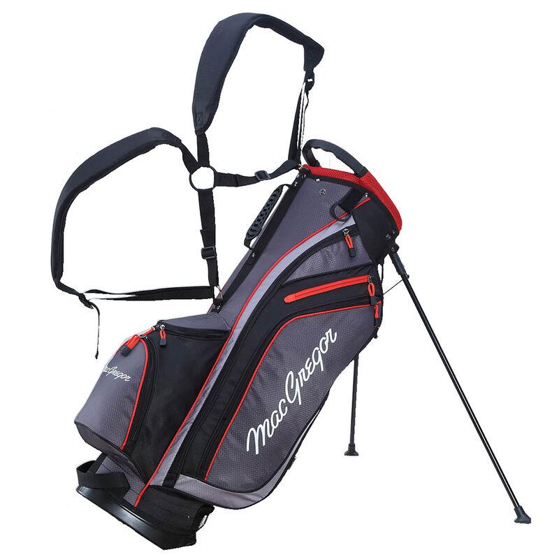 MacGregor MACTEC Golf Stand Bag, Grey/Black/Red
