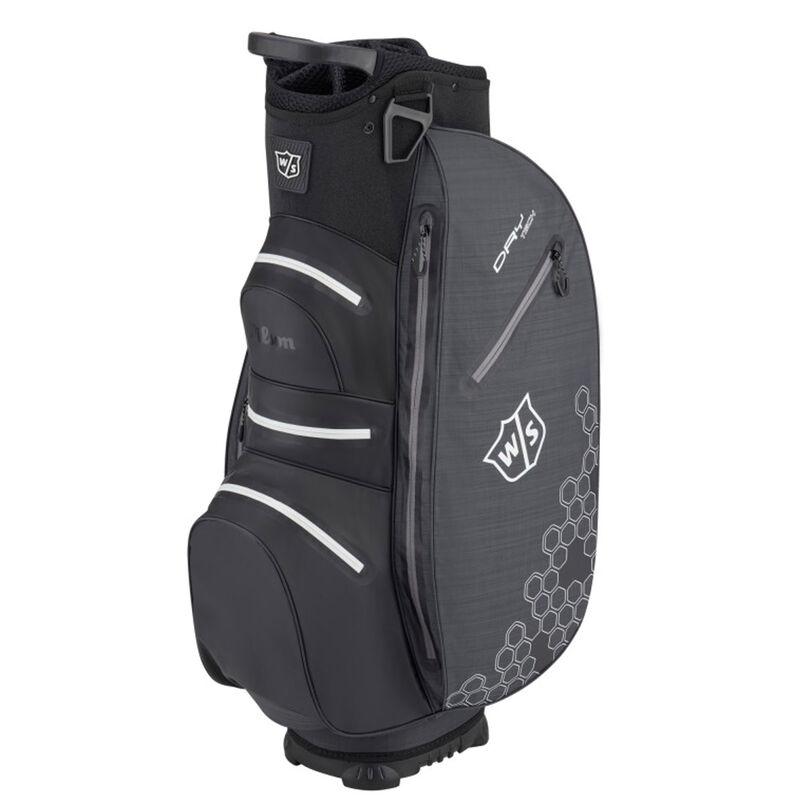Wilson Staff Dry Tech II Golf Cart Bag, Black/Black/White
