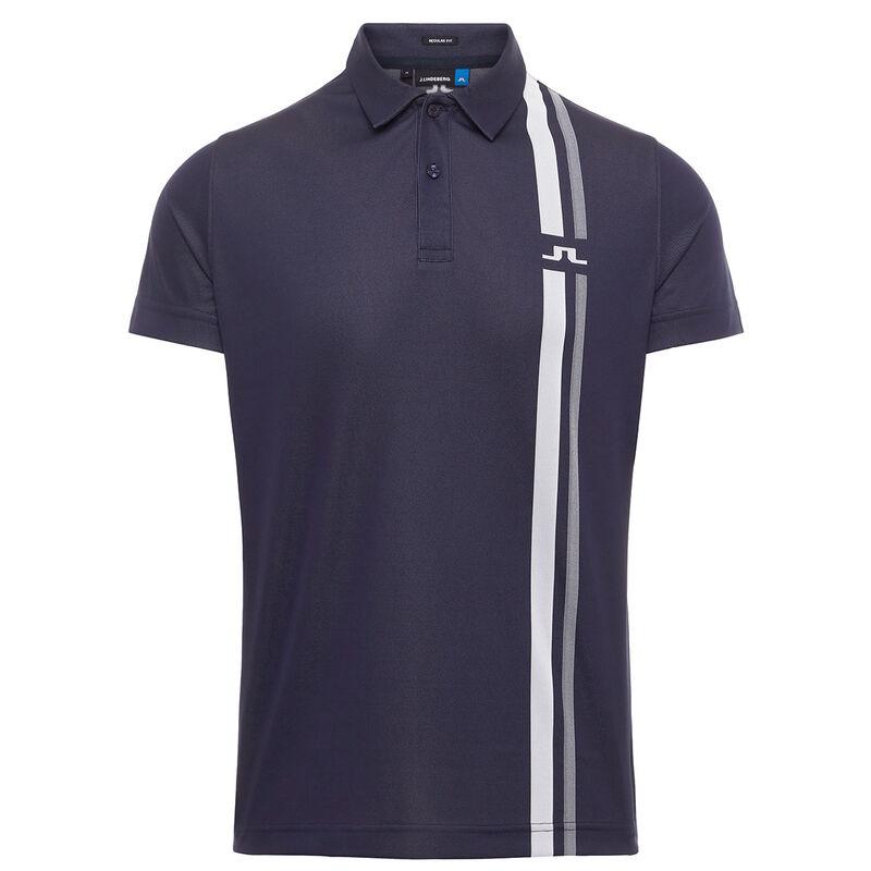 J.Lindeberg Anton TX Jacquard Golf Polo Shirt, Male, Navy Blue, Large