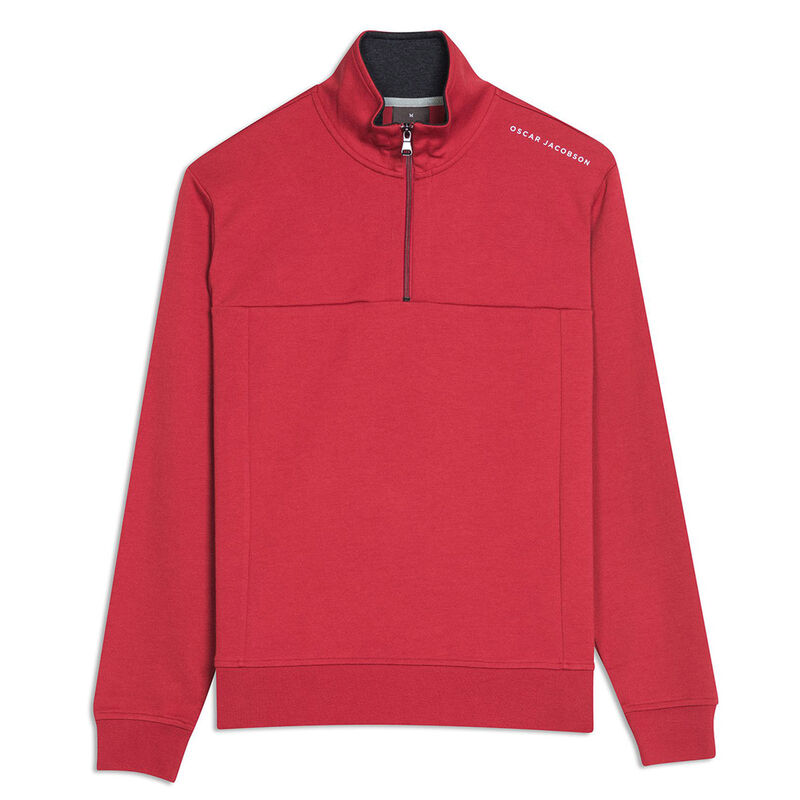Oscar Jacobson Hawkes Golf Sweater, Male, Power Red, Large