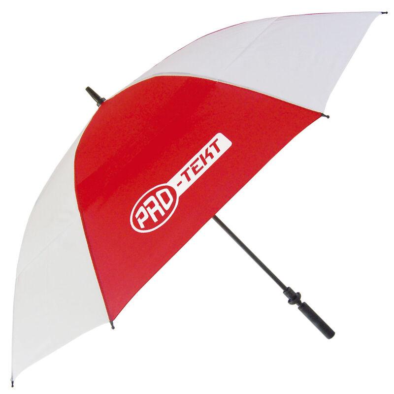 Pro-Tekt Auto-Open Umbrella, Male, White/Red