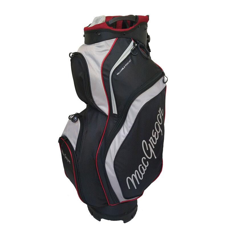 MacGregor Response Golf Cart Bag, Black/Silver