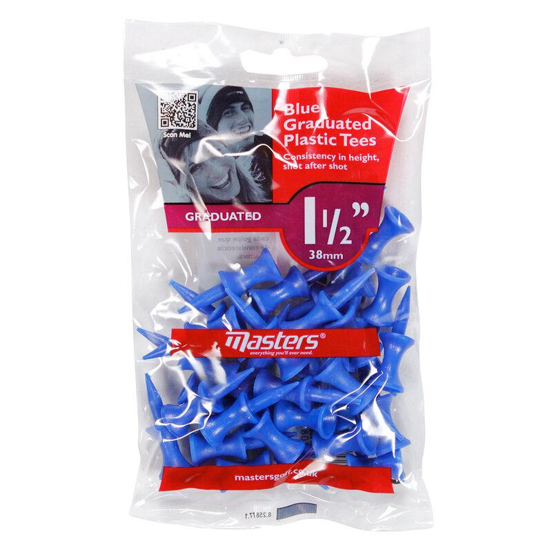 Masters Golf Graduated Plastic Tees Male Tees Blue 37mm