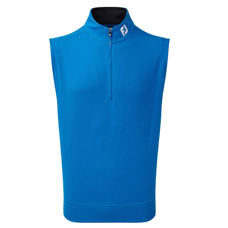 FootJoy Spun Poly 12 Zip Vest Male Cobalt Small