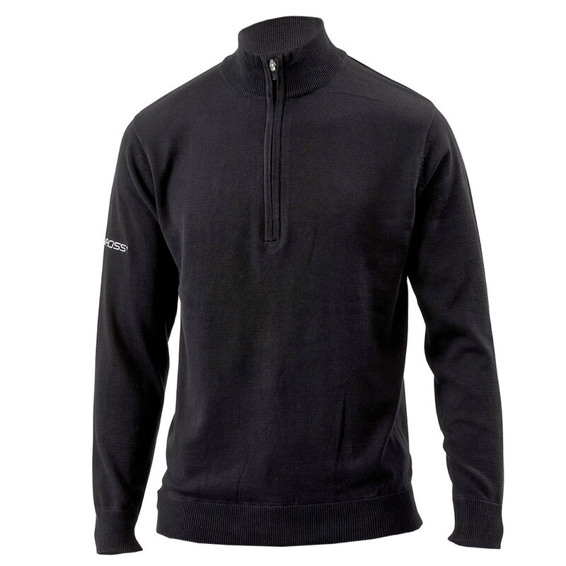 Benross Proshell X Zip Neck Sweater Male Black Medium