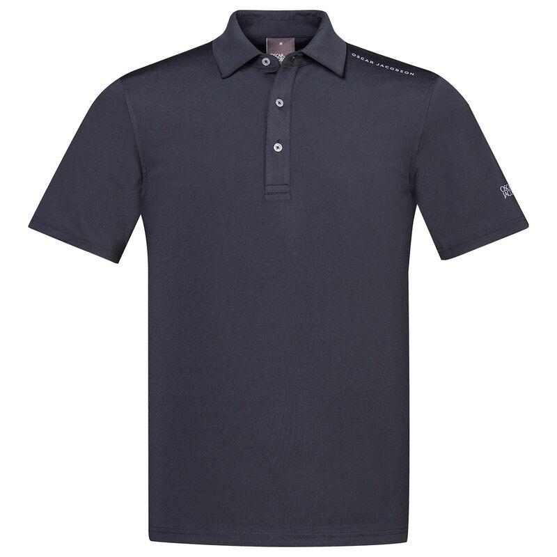 Oscar Jacobson Chap Course Golf Polo Shirt, Male, Black, Large