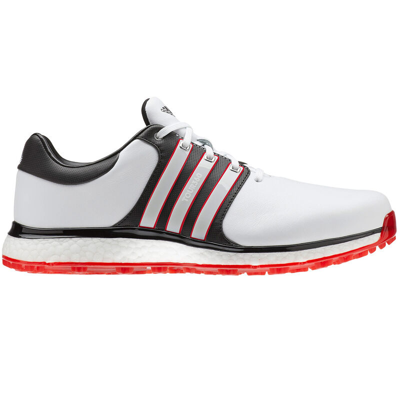 adidas Golf Tour 360 XT SL Shoe Male WhiteCore BlackScarlet 95 Wide