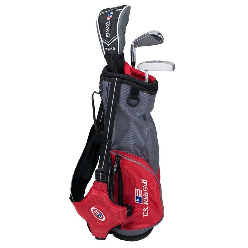 US Kids Red Starter Golf Set 3 5 Years