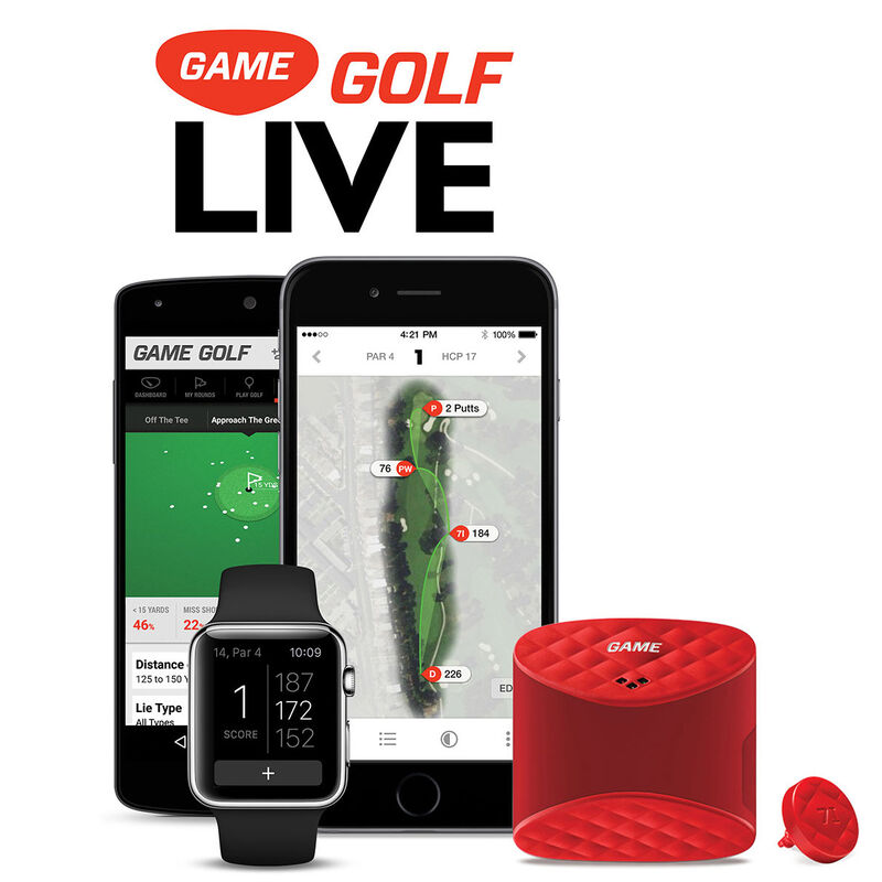 GAME GOLF LIVE Digital Tracking System Male One Size Red