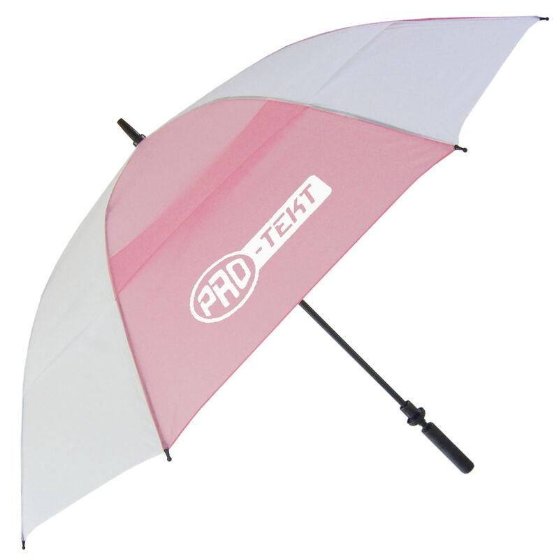 Pro-Tekt Auto-Open Umbrella, Male, White/Pink
