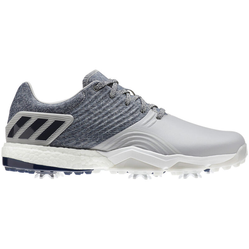 adidas Golf Adipower 4Orged Shoes Male GreyCollegiate NavyRaw White 9 Wide