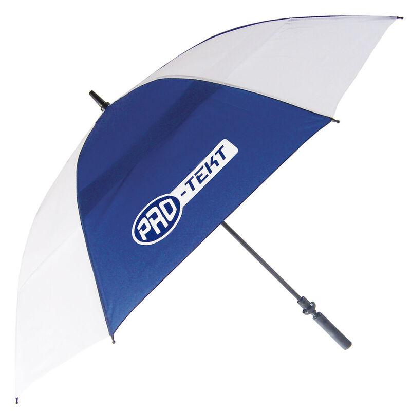 Pro-Tekt Auto-Open Umbrella, Male, White/Navy