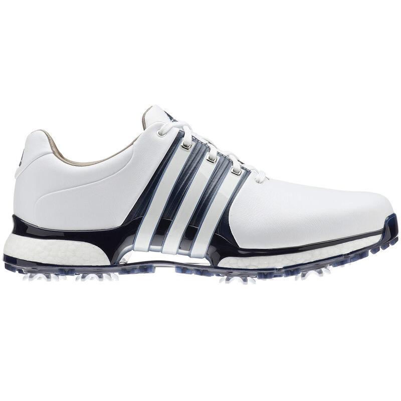adidas Golf Tour 360 XT Shoe Male WhiteCollegiate NavySilver 7 Wide