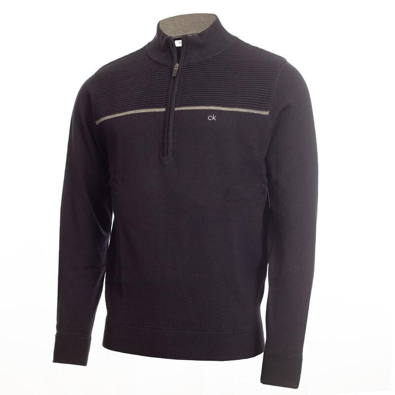 Calvin Klein 1/2 Zip Golf Sweater, Male, Navy Blue, Large