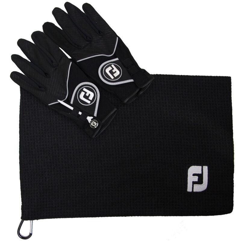 FootJoy RainGrip Bonus Pack Male Pair Medium Black