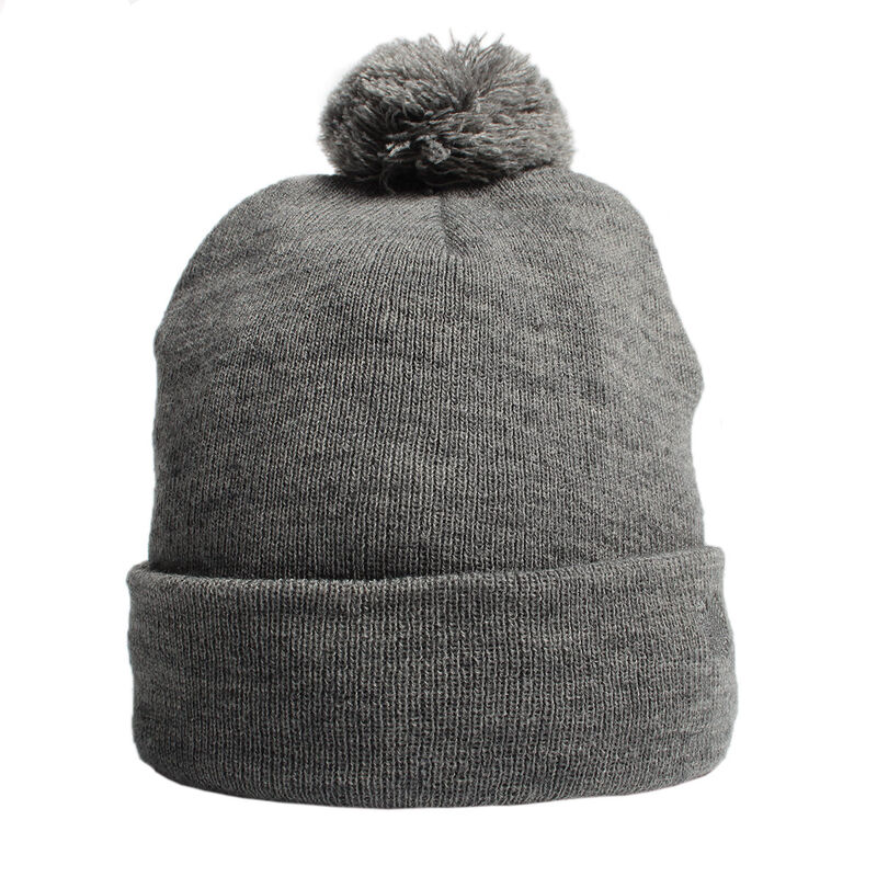 Palm Grove Mens Knitted Beanie Male Grey One Size