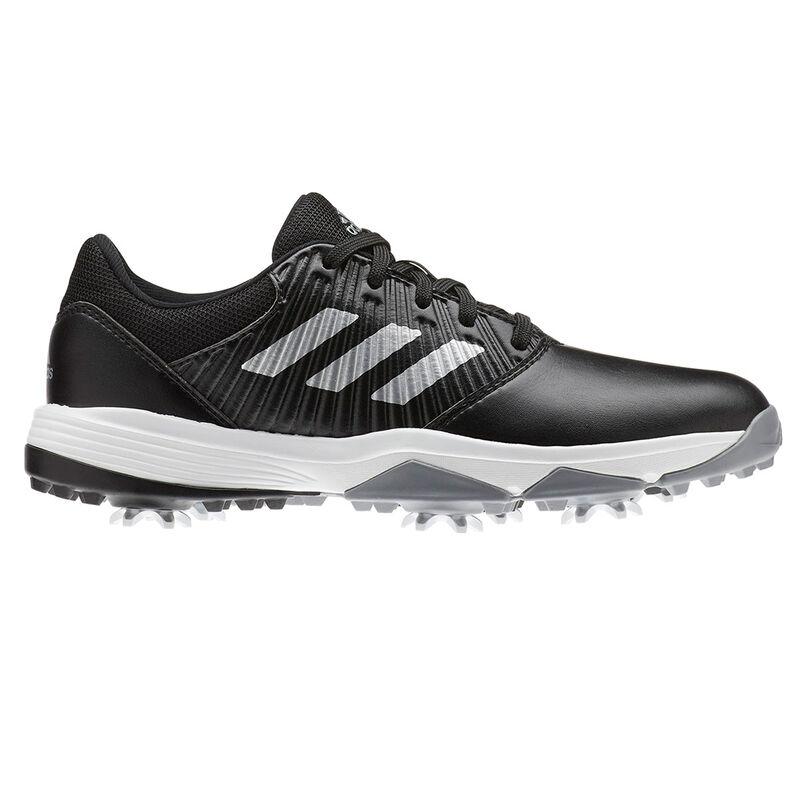 adidas Golf Junior CP Traxion Shoes Unisex BlackSilverWhite 5 Regular