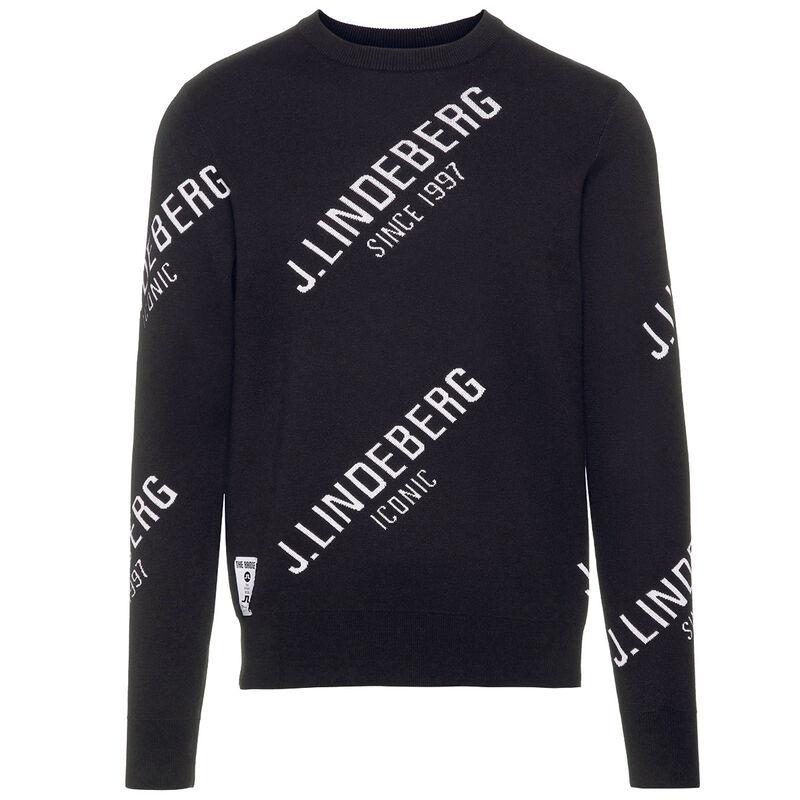 J.Lindeberg Cason Cotton Coolmax Golf Sweater, Male, Black, Medium