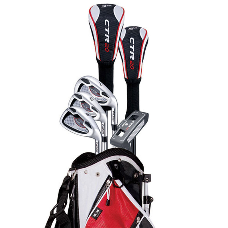 Fazer CTR20 Half Package Set, Right Hand, Golf Stand Bag, Black/Red