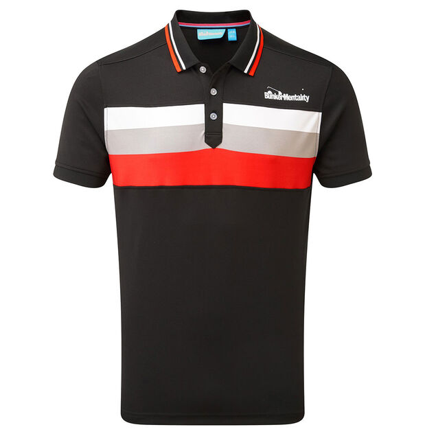 18b4a693 The Bunker Mentality Polo Shirt Features: Triple Chest Stripes ...