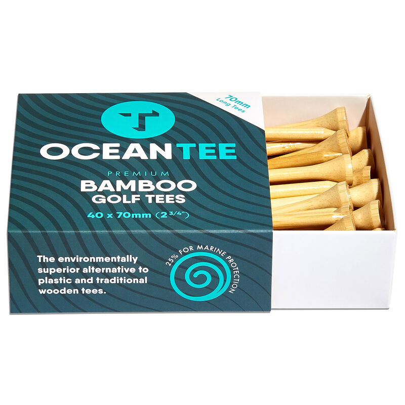 Ocean Tee 70mm Bamboo Tees - 40 Pack, Male, Wood, 70mm