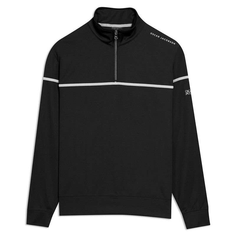 Oscar Jacobson Bill Course Golf Sweater, Male, Black, Large