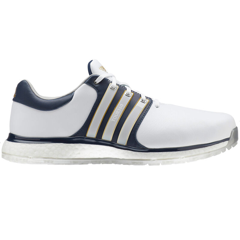 adidas Golf Tour 360 XT SL Shoe Male WhiteCollegaite NavyGold Met 95 Wide