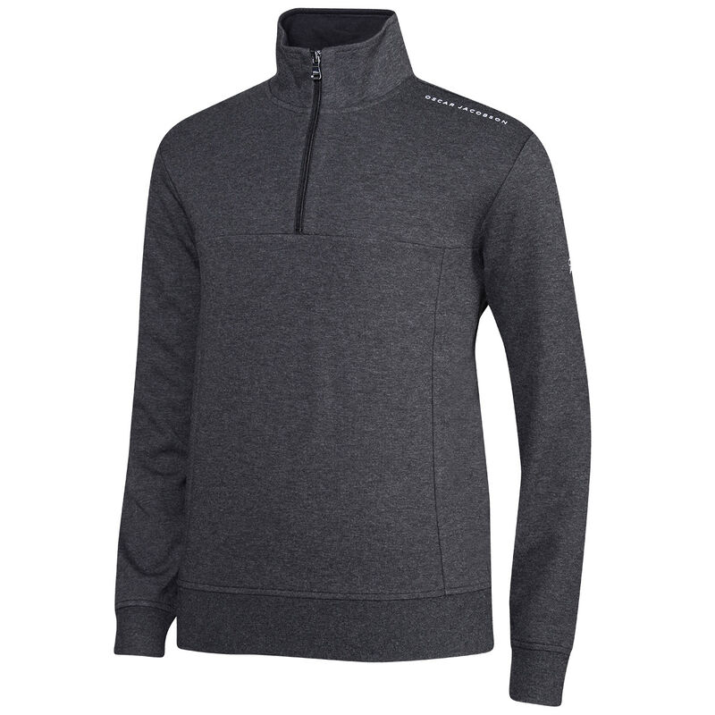Oscar Jacobson Hawkes Golf Sweater, Male, Charcoal, XXL