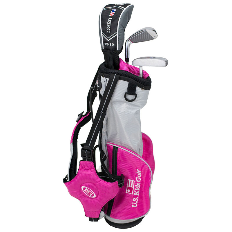 """US Kids UL 39"""" 3 Club Carry Set Unisex Right Hand Carry Pink"""