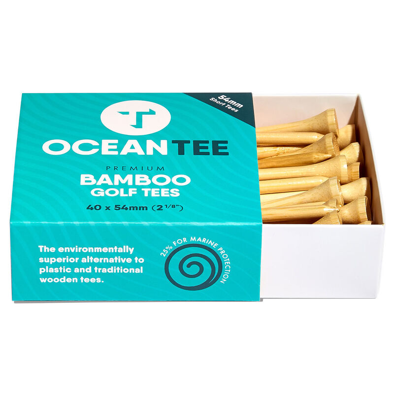 Ocean Tee 54mm Bamboo Tees - 40 Pack, Male, Wood, 54MM