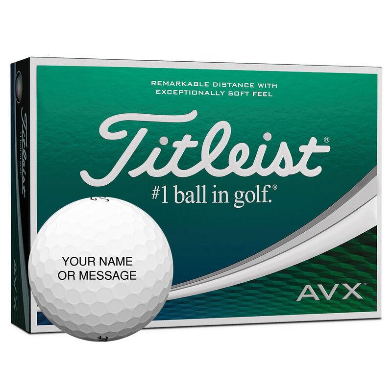 Titleist AVX Personalised 12 Golf Balls, Male, White, Black, 1-4